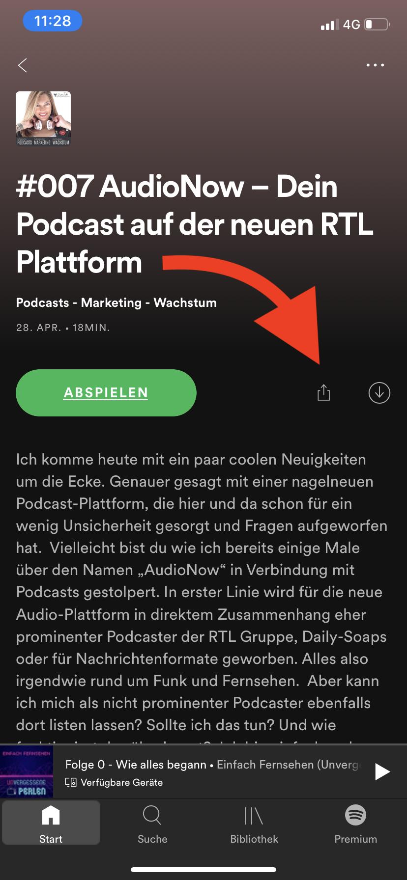 Spotify in Instagram Story teilen