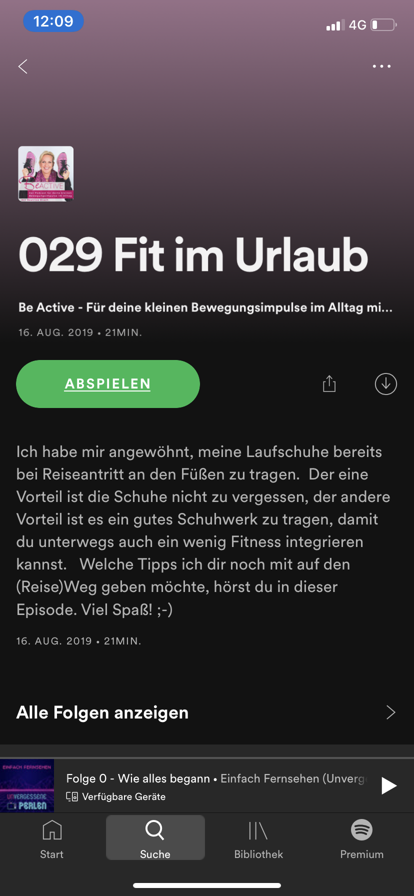 Shownotes bei Spotify