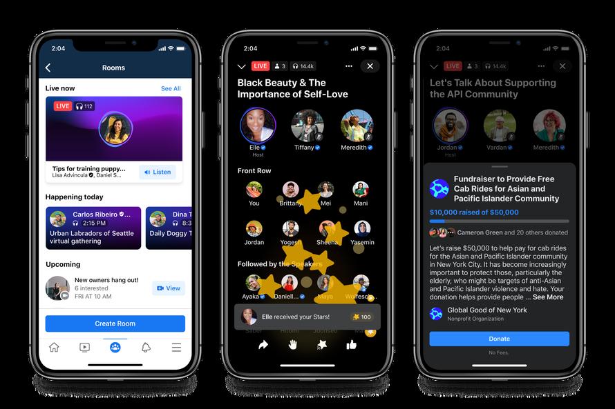 Facebook Live-Audio-Rooms